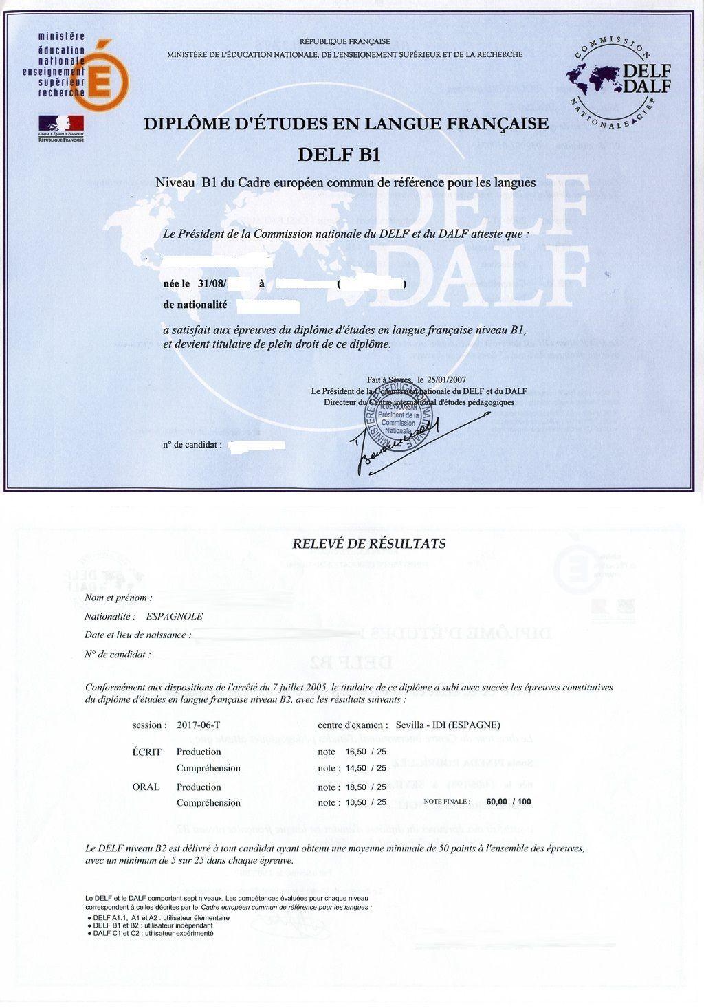 Traducción Jurada de un Diploma DELF