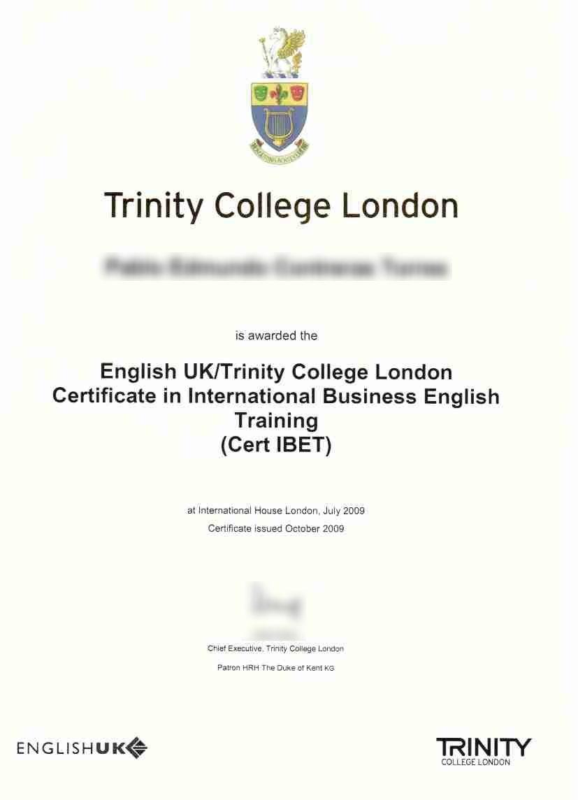 Traducción Jurada Inglés: Certificado Trinity College London